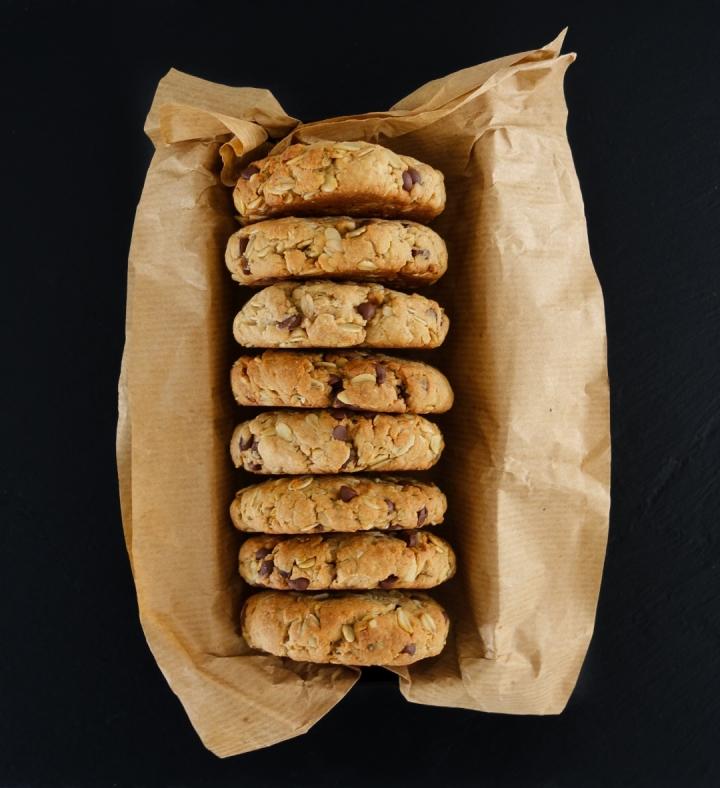 Cookies aux flocons d'avoine et au chocolat(VEGAN)