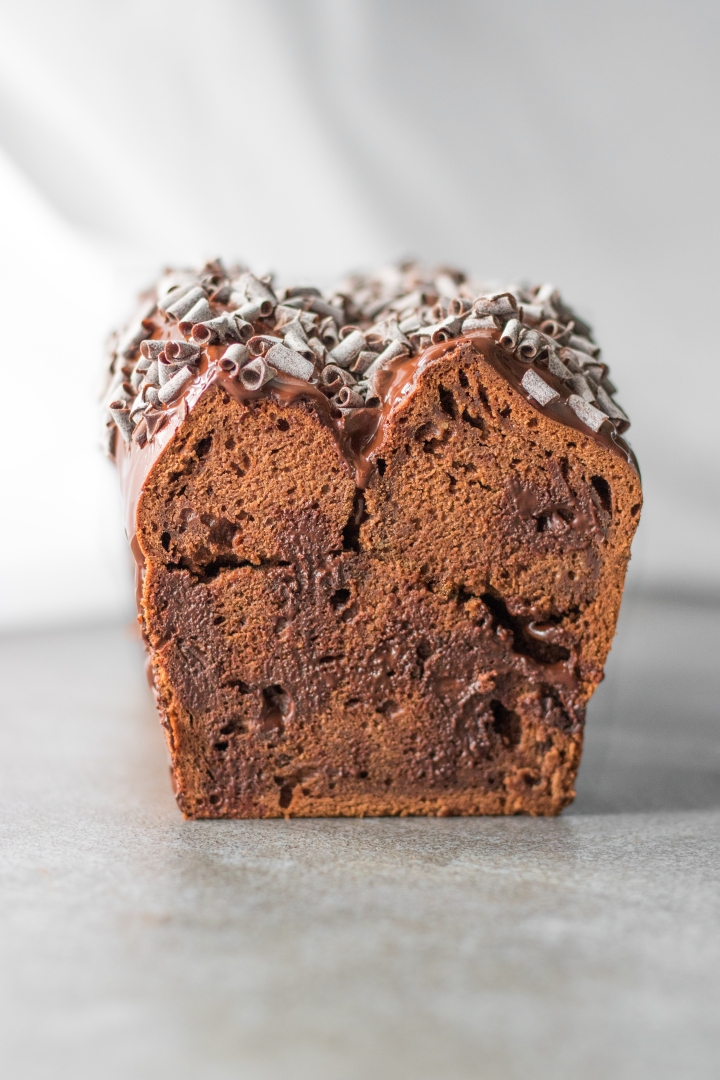 Banana bread triple chocolat - Vegan - The V World