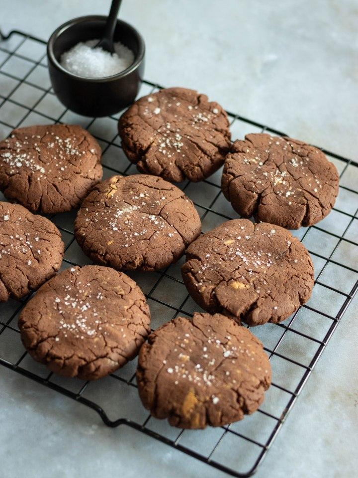 Cookies brownies chocolat et beurre de cacahuètes (SANSGLUTEN)