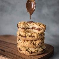 Cookies crumble à la pâte à tartiner maison (VEGAN)