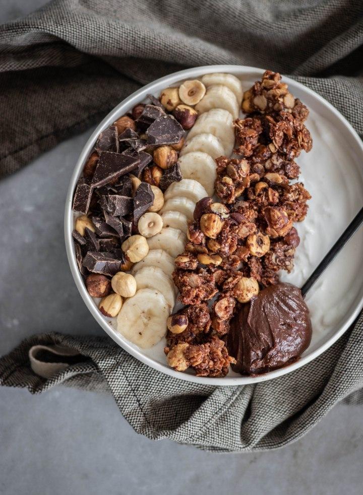 granola chocolat noisette vegan sans gluten